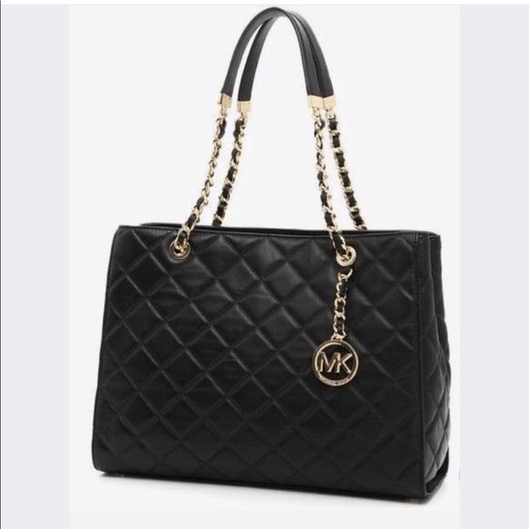 ce54ea96a462 Michael Kors VGUC Susannah Black Leather Tote Bag.  M_5b34ed6c95199675e0853814